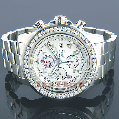 Breitling Super Avenger Diamond Watch 6ct