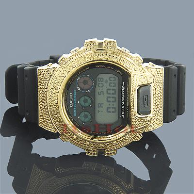 Casio G-Shock Diamond Watch 0.15ct Yellow DW-6900