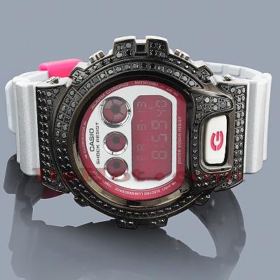 Casio G-Shock Watch Black CZ Crystals DW6900