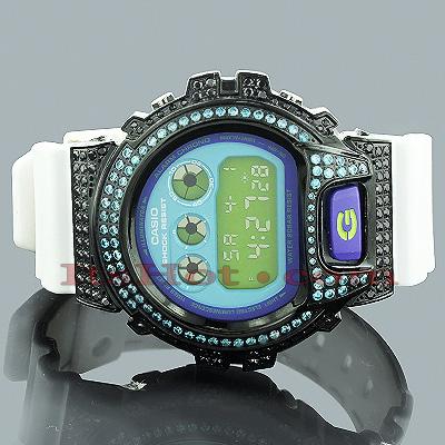 Casio Watches: Blue Black CZ Crystal G-Shock Watch 5ct