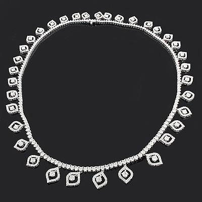 Celebrity Jewelry: Ladies Diamond Necklace 17.99ct 18K