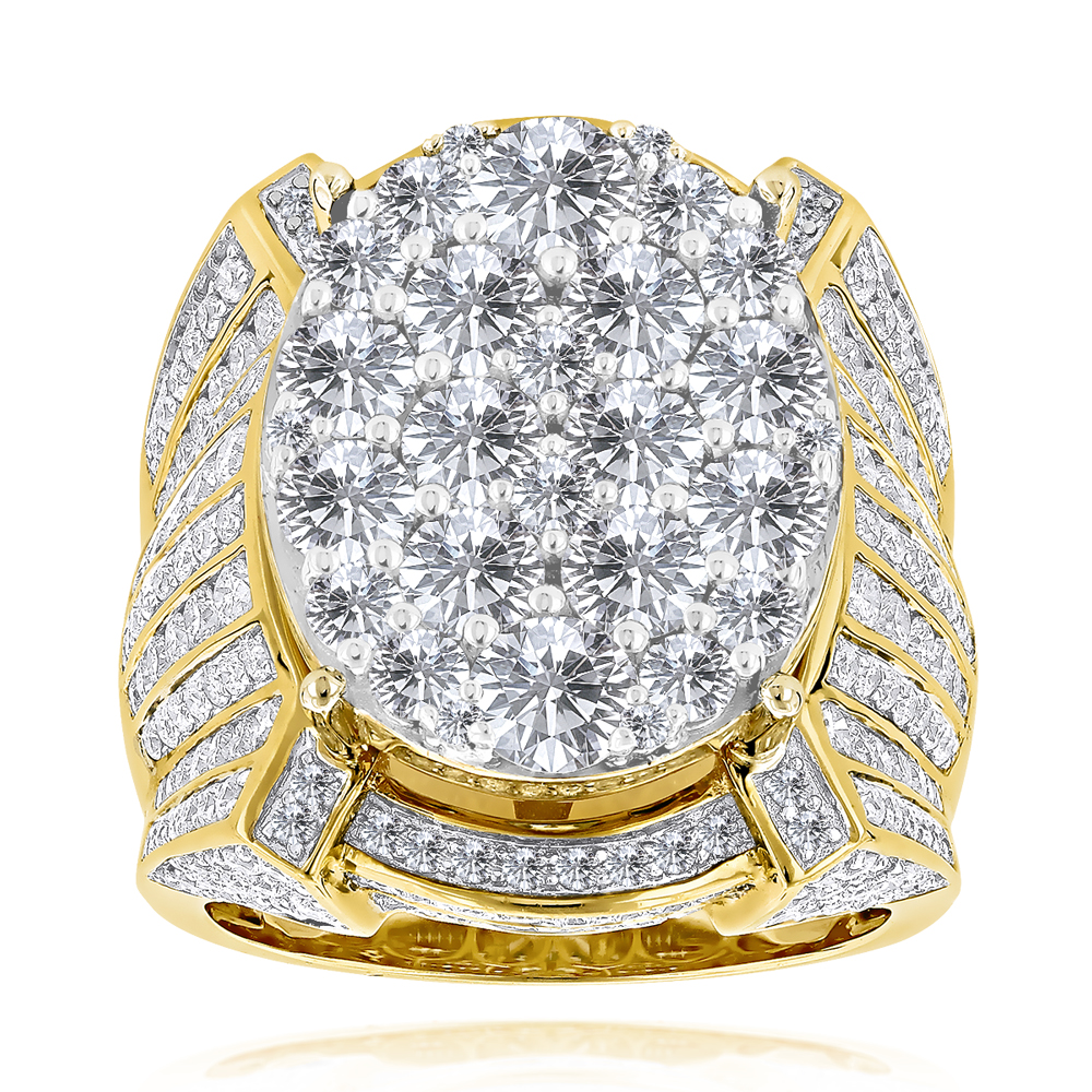 Celebrity Mens Diamond Ring by Luxurman 14K Gold 10ct