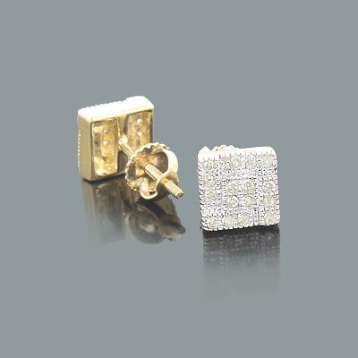 Champagne Diamond Stud Earrings 0.23ct 10K Gold