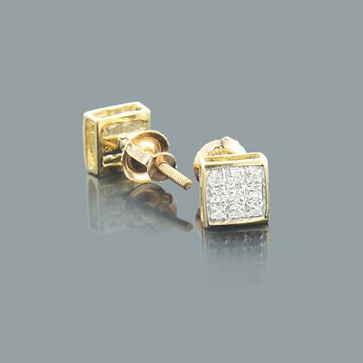 Cheap Diamond Earrings 0.06ct 10K Gold