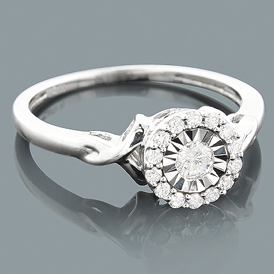 Cheap Diamond Engagement Ring 10K Gold 1 Carat Look