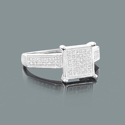 Cheap Diamond Promise Rings: 10K Gold Ring 0.25ct