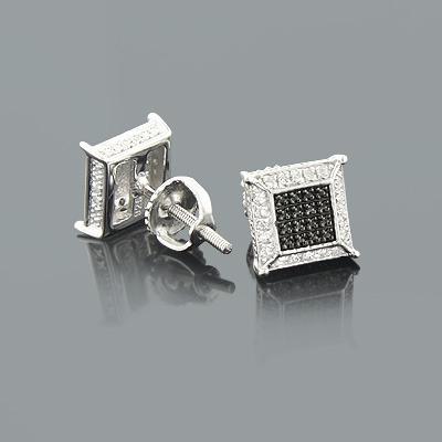 Cheap Diamond Stud Earrings 0.13ct Sterling Silver
