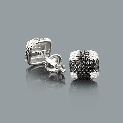 Cheap Diamond Stud Earrings in Sterling Silver 0.09ct