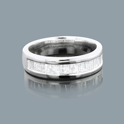 Cheap Diamond Wedding Bands: Sterling Silver Ring 1ct