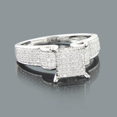 Cheap Engagement Rings: Ladies Diamond Ring 0.42ct 10K Gold
