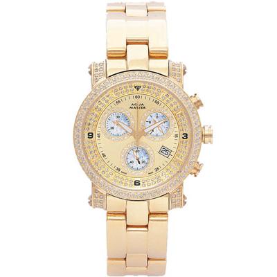 Chronograph Watches Aqua Master Diamond Watch 2.20ct