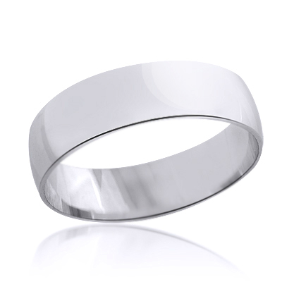 Classic Thin Mens Wedding Band 14K Solid Gold 6mm