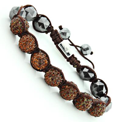Cognac Rhinestone Bracelet - Disco Ball Jewelry