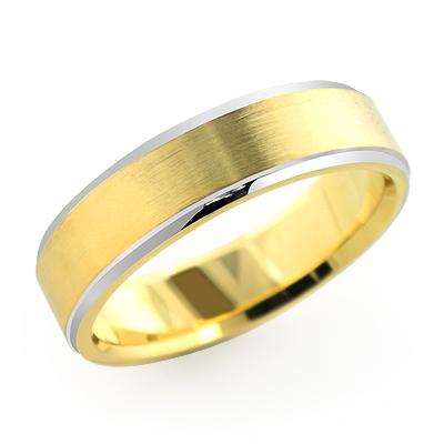 Cosmopolitan Wedding Band for Men in 14K Solid Gold