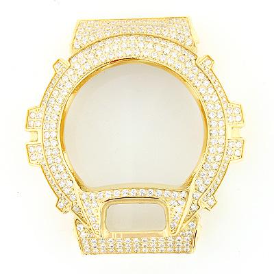 Crystal G-Shock Bezel Yellow Gold Tone
