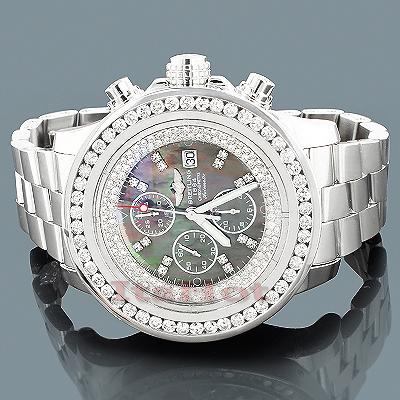 Custom Breitling Super Avenger Mens Diamond Watch 5.50ct
