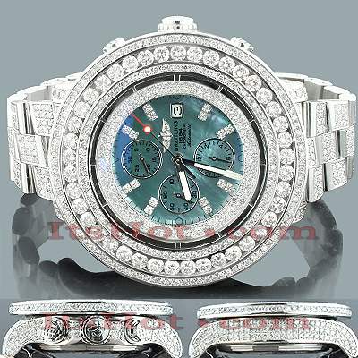 Custom Diamond Breitling Super Avenger Mens Watch 36.55ct