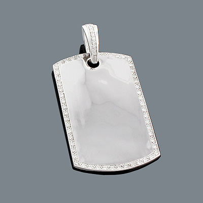 Custom Dog Tags Gold Diamond Pendant Can Be Engraved