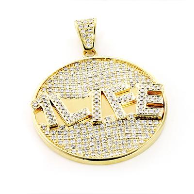 Custom jewelry made yellow gold diamond pendant 590ct 10k aloadofball Image collections
