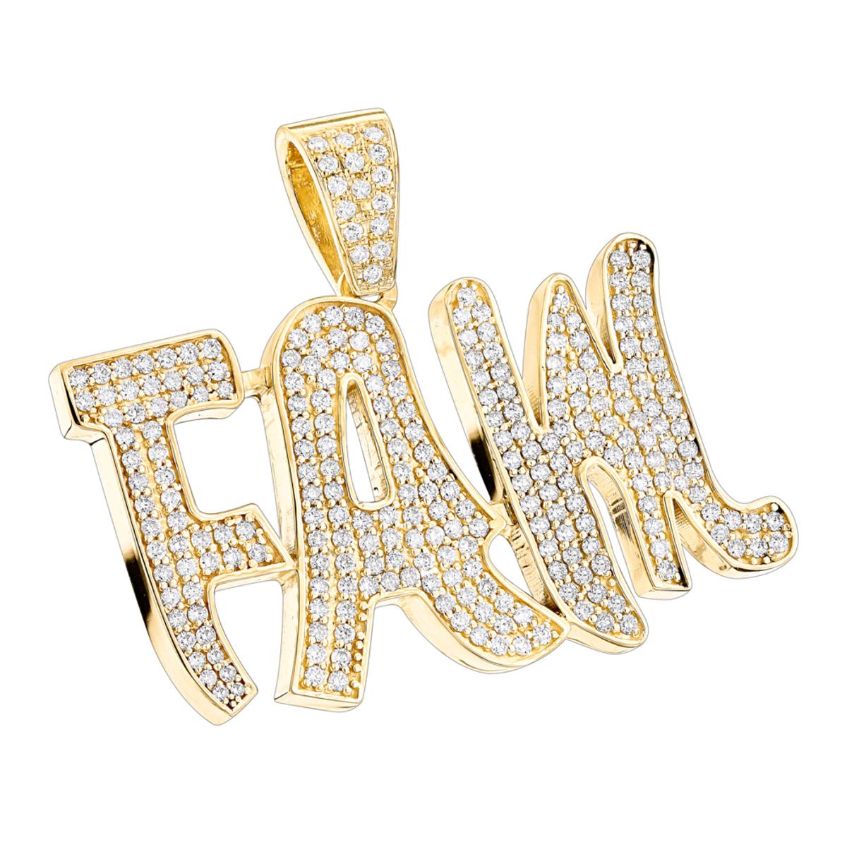 Custom Jewelry! Solid 10K Gold Real Diamond Mens Pendant by Luxurman 3.5ct
