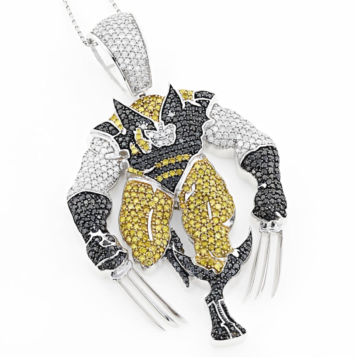 Custom jewelry wolverine diamond pendant 745ct solid 10k gold aloadofball Image collections