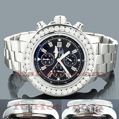 Custom Large Diamond Bezel Breitling Super Avenger Watch 12.50