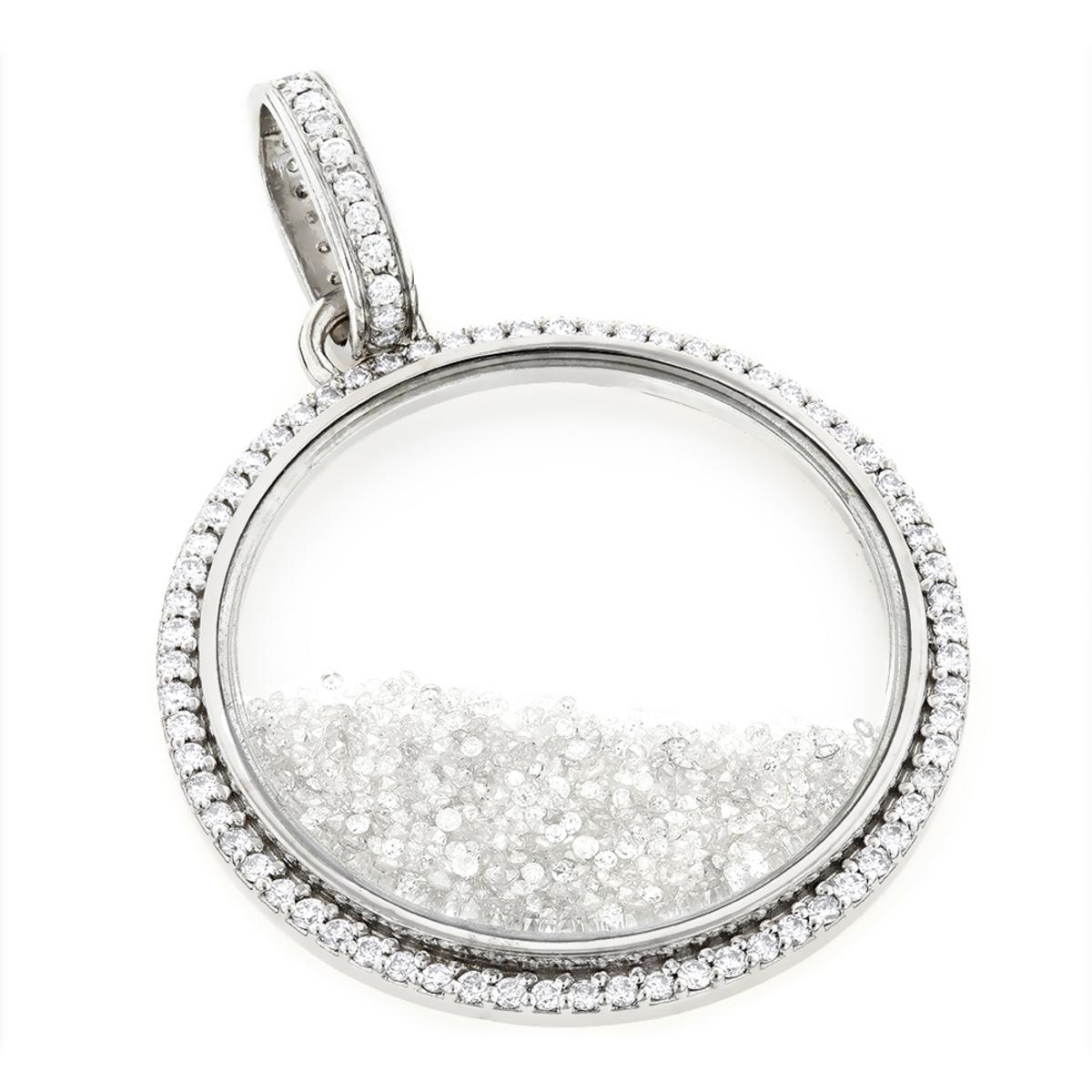 Custom Made Diamond Shaker Pendant 8.7ct Circle Jewelry