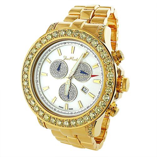 Custom Watches: Mens Joe Rodeo Custom Yellow Diamond Master Pilot Watch 7.1ct