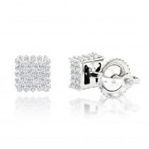 10K Gold Diamond Stud Earrings 0.38ct