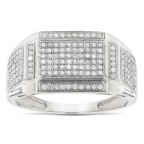10K Gold Mens Diamond Ring 0.5ct