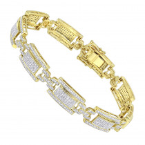 10K Gold Pave Diamond Bracelet for Men 2.75ct by Luxurman