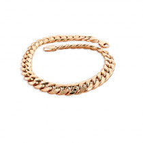 10K Rose Gold Miami Cuban Link Curb Chain Bracelet 9mm 7.5-9in