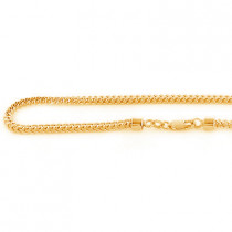 10K Solid Yellow Gold Franco Chain 26in-40in 3mm