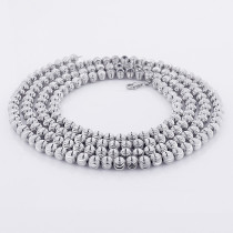 10K White Gold Moon Cut Chain 6mm 22-40in