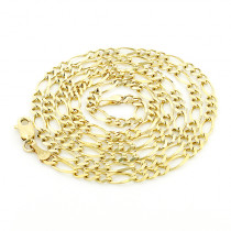 10K Yellow Gold Figaro Chain 3.5mm 18-24in