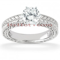 14K Designer Diamond Engagement Ring 0.50ct