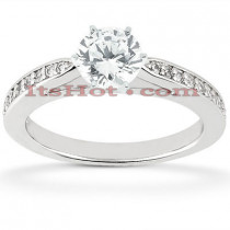 14K Designer Diamond Engagement Ring 0.68ct
