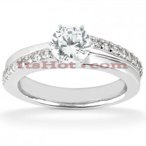 14K Designer Diamond Engagement Ring 0.82ct