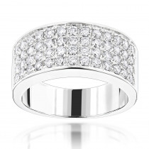 14K Gold Designer Diamond Wedding Band 1.82ct