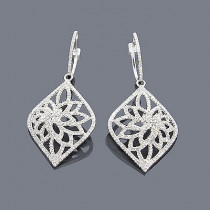 14K Diamond Filigree Earrings 1.35ct