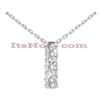 14k Gold 3 Stone Diamond Journey Pendant 0.60ct