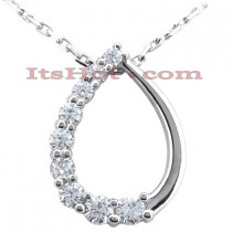 14k Gold 9 Stone Diamond Journey Pendant 0.25ct