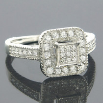14K Gold Affordable Diamond Engagement Ring 0.51ct