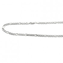 14K Gold Concave Figaro Chains Collection Item 5mm, 20in - 40 in