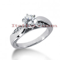 14K Gold Designer Diamond Engagement Ring 0.64ct