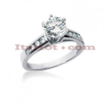 14K Gold Designer Diamond Engagement Ring 0.70ct