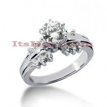 14K Gold Designer Diamond Engagement Ring 0.78ct