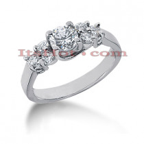 14K Gold Designer Diamond Engagement Ring 0.96ct