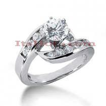 14K Gold Designer Diamond Engagement Ring 1.06ct