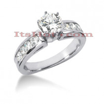14K Gold Designer Diamond Engagement Ring 1.14ct